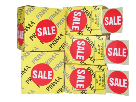 "2000 x ""SALE"" Retail Self Adhesive Price Labels Stickers"