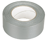 12 x Rolls of Silver Duct / Cloth / Gaffa Tape 50mm x 50M