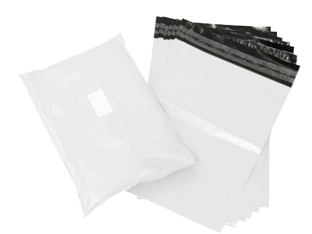 "500 x Strong White Postage Poly Mailing Bags 15"" x 19"" - 380x480mm"