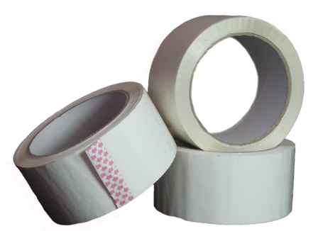6 Rolls of White Coloured Low Noise Packing Tape 50mm x 66m