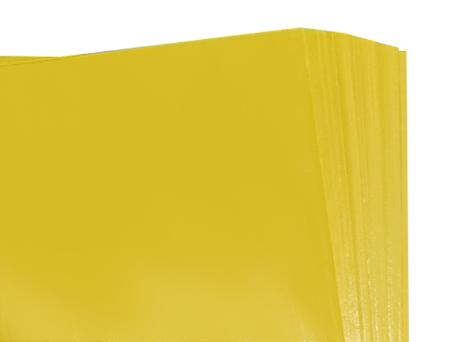 100 Sheets of Yellow Coloured Acid Free Tissue Paper 500mm x 750mm ,18gsm