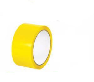 6 Rolls of Yellow Coloured Packing Tape 50mm x 66m