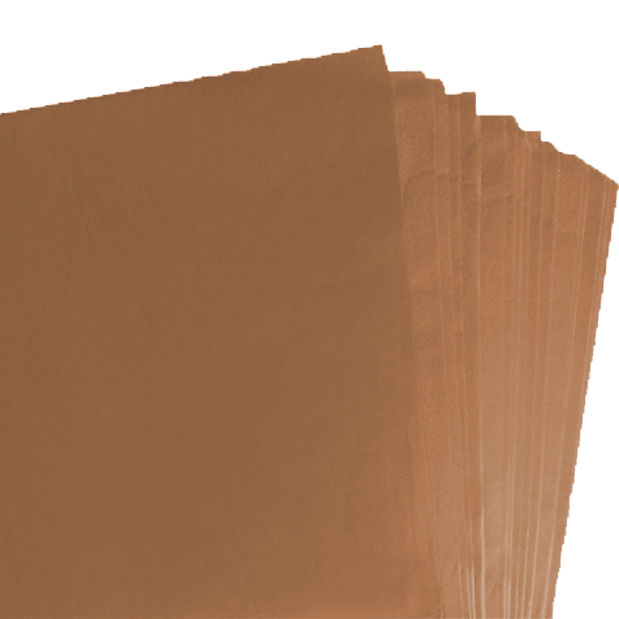2000 Sheets of Brown Coloured Acid Free Tissue Paper 500mm x 750mm ,18gsm