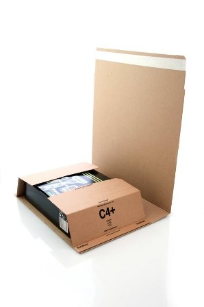 25 x C4 Book Wrap (Bukwrap) Mailer Postal Boxes 326x245x70mm