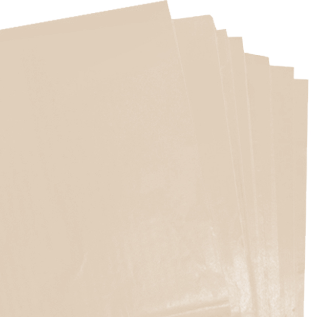250 Sheets of Cream Coloured Acid Free Tissue Paper 500mm x 750mm ,18gsm