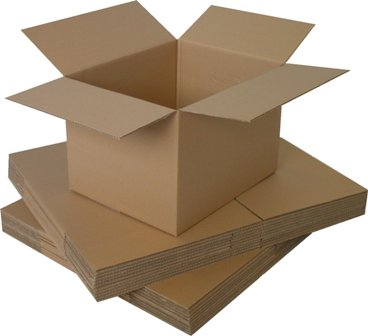 "5 x Single Wall Cardboard Postal Mailing Boxes 6""x6""x6"""