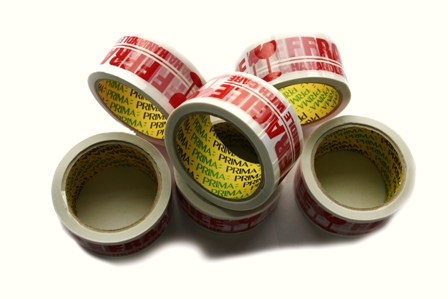 6 x Rolls Of FRAGILE Printed Packing Tape 48mm x 66m