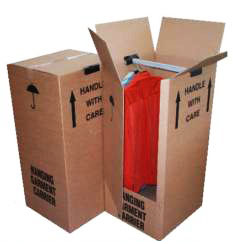 "3 x Extra Large Double Wall Wardrobe Removal Boxes 20""x19""x49"""