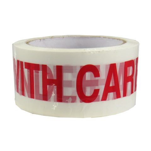 72 x Rolls Of HANDLE WITH CARE Printed Packing Tape 48mm x 66m