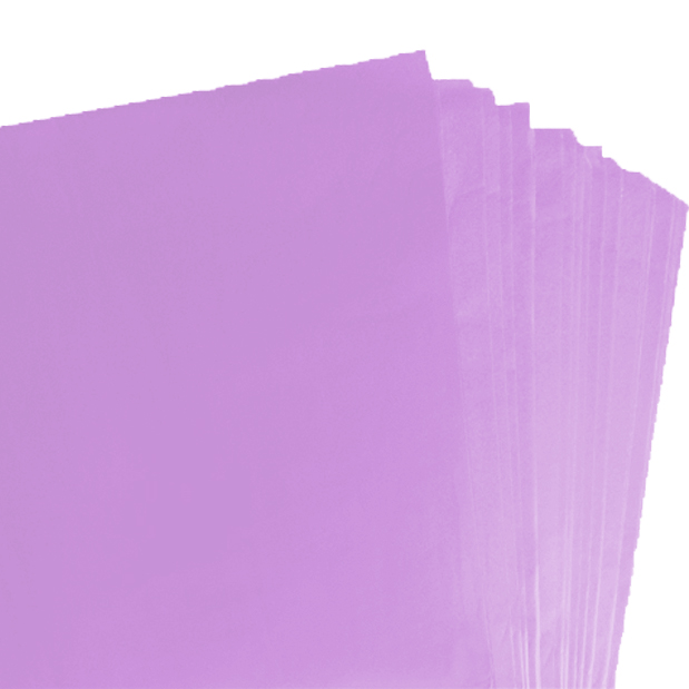 250 Sheets of Lilac Coloured Acid Free Tissue Paper 500mm x 750mm ,18gsm
