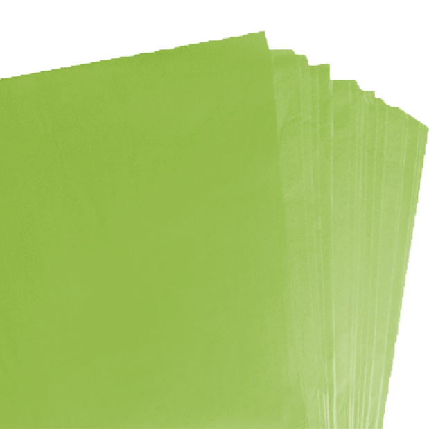 500 Sheets of Lime Green Coloured Acid Free Tissue Paper 500mm x 750mm ,18gsm