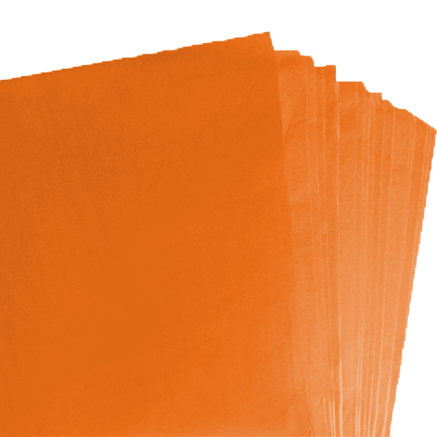 250 Sheets of Orange Coloured Acid Free Tissue Paper 500mm x 750mm ,18gsm
