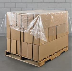 1 x Roll Of 500 Polythene Pallet Top Covers Sheets 1400mm x 1400mm
