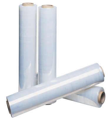 6 x Rolls of Clear Pallet Stretch Shrink Wrap 400mm, 17mu