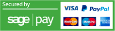 secure payment via sagepay and paypal