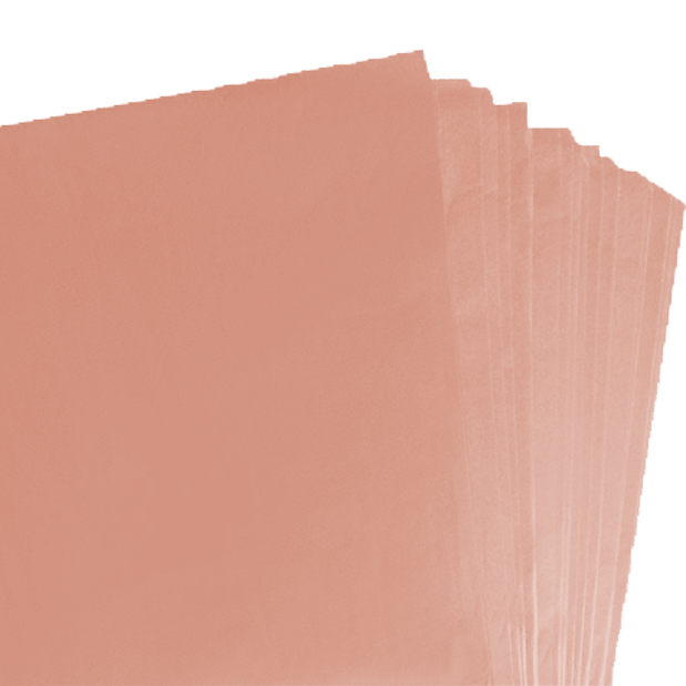 250 Sheets of Peach Coloured Acid Free Tissue Paper 500mm x 750mm ,18gsm