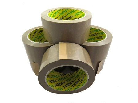 36 x Rolls Of Heavy Duty PRIMA Brown Vinyl Packing Tape 48mm x 66m