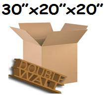 "10 x XX-Large Double Wall Storage Cardboard Boxes 30""x20""x20"""