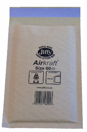 Jiffy Size JL00 (B) Envelopes - 115x195mm