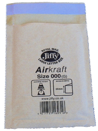 Jiffy Size JL000 (A) Envelopes - 90x145mm