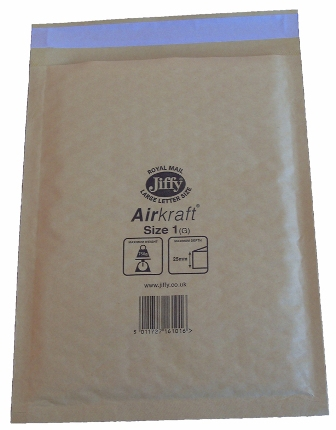 Jiffy Size JL1 (D) Envelopes - 170x245mm