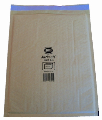 Jiffy Size JL5 (H) Envelopes - 260x345mm
