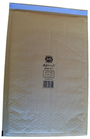 Jiffy Size JL6 (J) Envelopes - 290x445mm