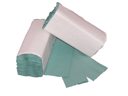 328 x Economy Green 1 Ply C-Fold Multi Fold Hand Paper Towels Tissues