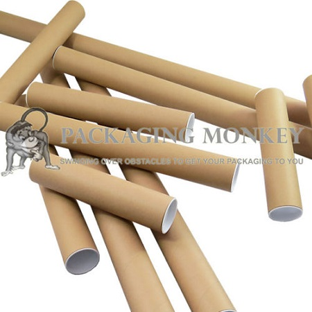 5 x Quality A1 Cardboard Postal Tubes with End Caps 630mm x 50mm x 1.5mm Wall